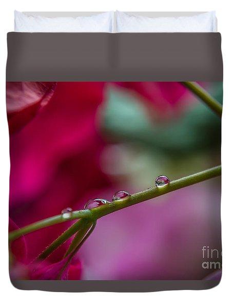 Three Reflecting Drops Duvet Cover