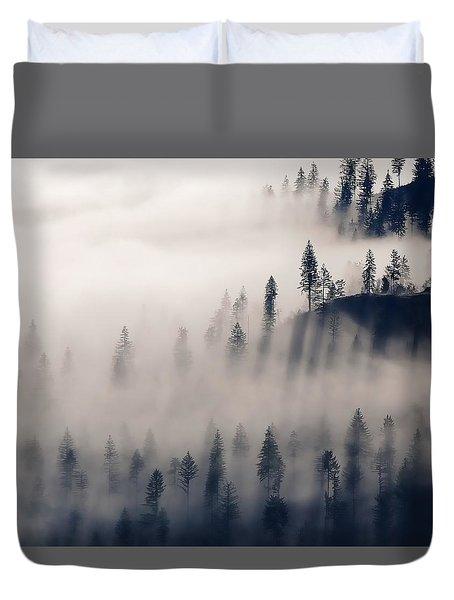 Three Ridges Fog Duvet Cover