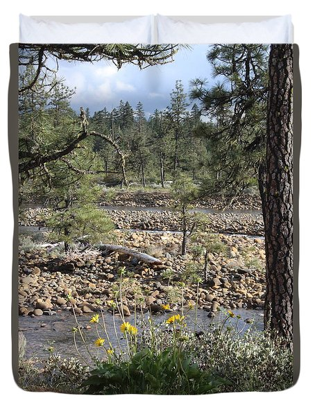 Duvet Cover featuring the photograph Three Rivers In One by Marie Neder