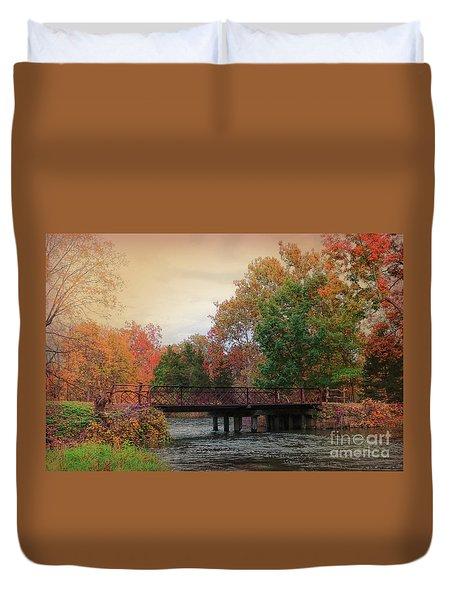 Three Rivers Michigan Duvet Cover