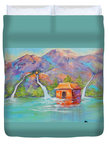 Three Sacred Waters Duvet Cover