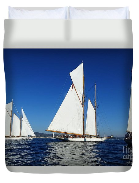Three Schooners Duvet Cover