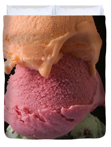 Three Scoops Of Ice Cream  Duvet Cover