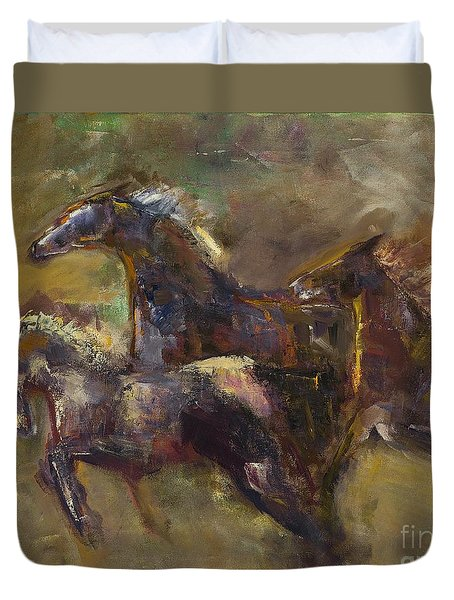 Three Set Free Duvet Cover by Frances Marino