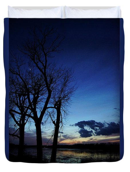 Duvet Cover featuring the photograph Three Sisters by Cricket Hackmann