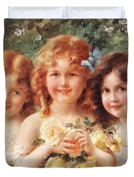 Three Sisters Duvet Cover by Emile Vernon