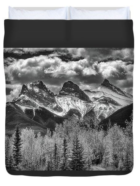 Duvet Cover featuring the photograph Three Sisters by Russell Pugh