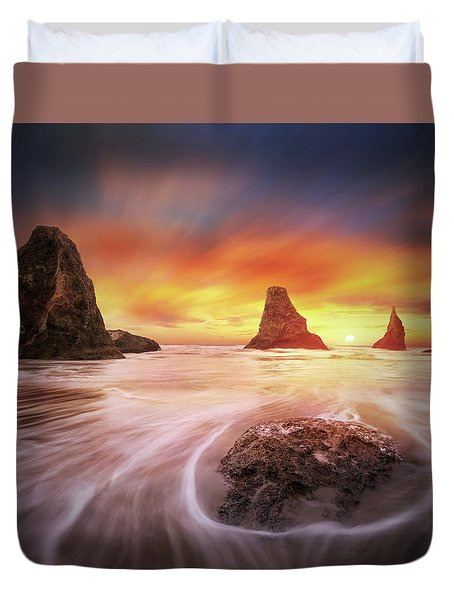 Three Sisters With One Sun Duvet Cover