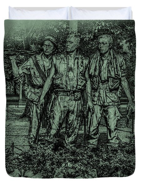 Three Soldiers Memorial Duvet Cover