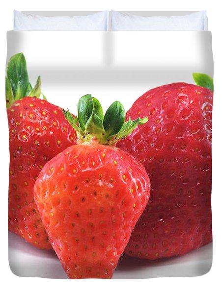 Three Strawberries Duvet Cover
