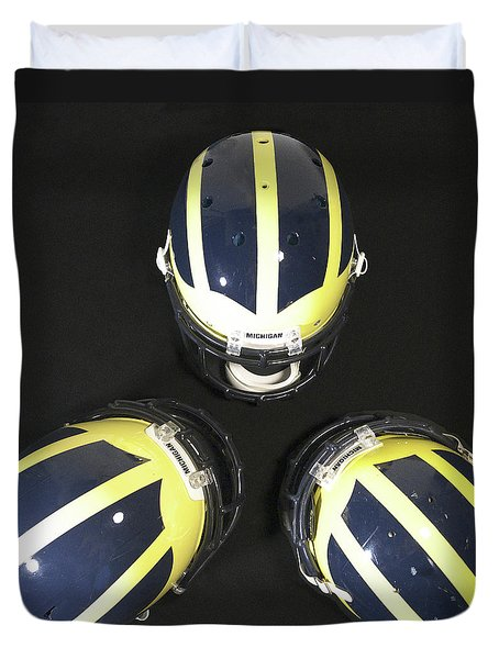 Three Striped Wolverine Helmets Duvet Cover