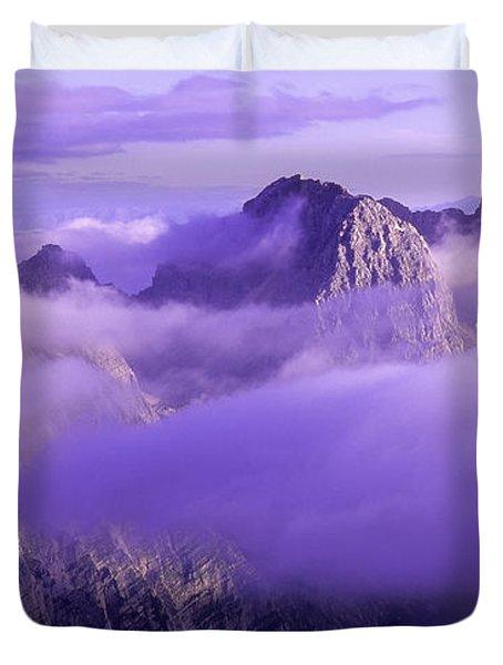 Three Summits. Julian Alps Duvet Cover by Konstantin Dikovsky