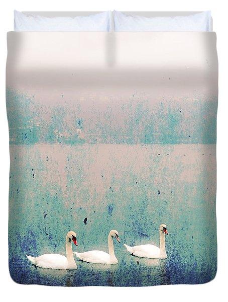 Three Swans Duvet Cover by Joana Kruse
