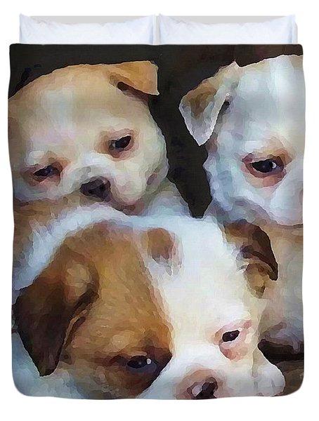 Three Sweeties Duvet Cover