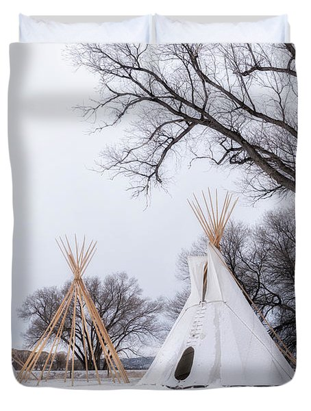 Three Tipis Duvet Cover