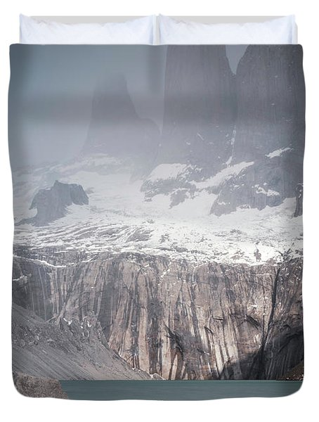 Three Towers, Chile Duvet Cover