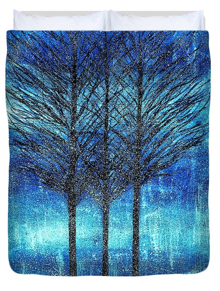 Three Trees  Duvet Cover