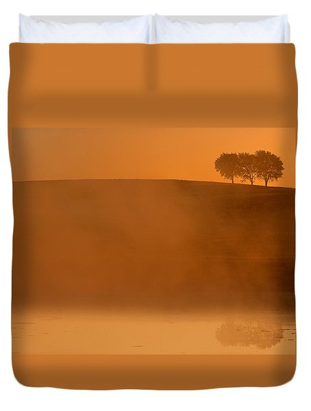 Three Trees  Duvet Cover by Don Spenner