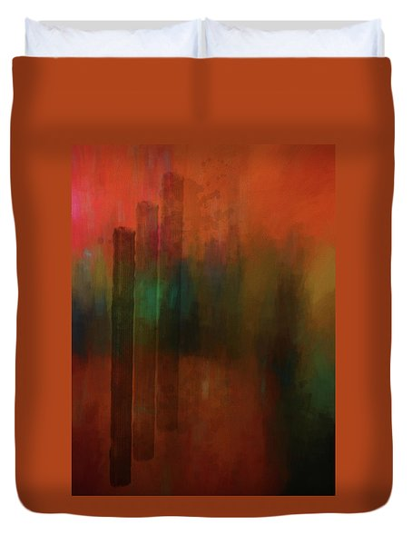 Three Trees Duvet Cover by Kandy Hurley