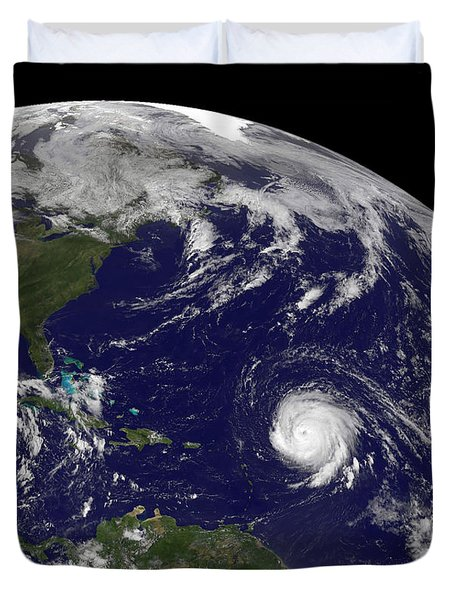 Three Tropical Cyclones Active Duvet Cover
