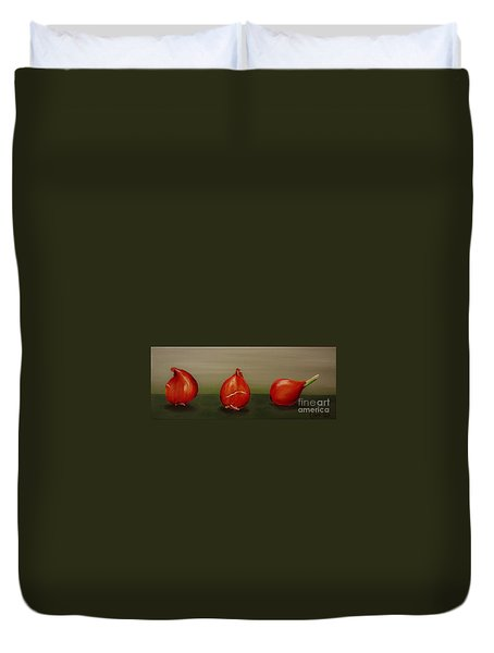 Three Tulip Bulbs Duvet Cover