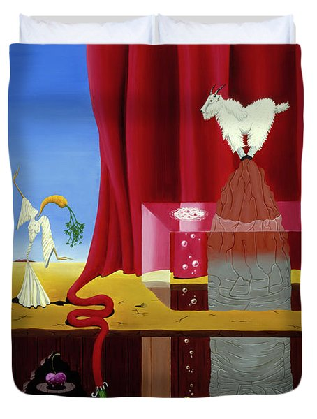 Three Twisted Dancers Duvet Cover