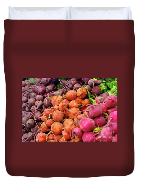 Three Types Of Beets Duvet Cover