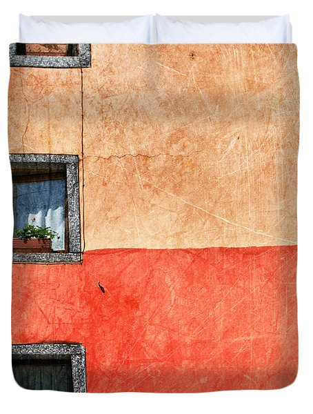 Three Vertical Windows Duvet Cover
