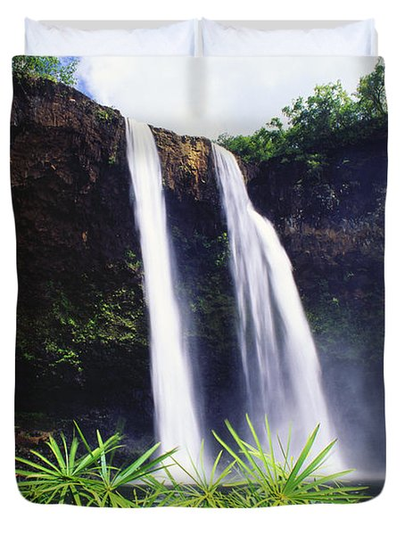 Three Waterfalls Duvet Cover by Peter French - Printscapes