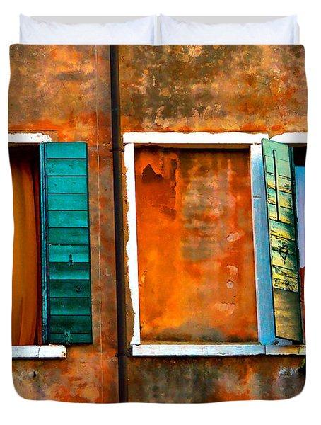 Three Windows Duvet Cover