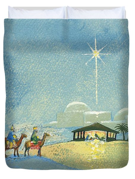 Three Wise Men Duvet Cover by David Cooke