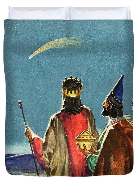 Three Wise Men Duvet Cover by English School
