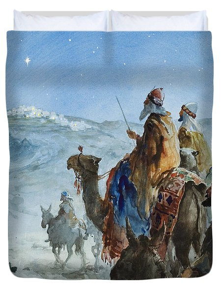 Three Wise Men Duvet Cover by Henry Collier
