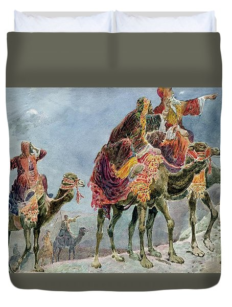 Three Wise Men Duvet Cover by Sydney Goodwin