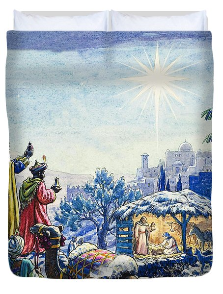 Three Wise Men Duvet Cover by Unknown