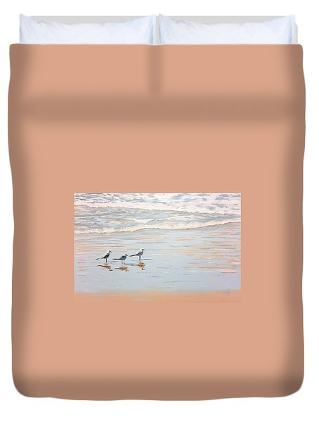 Three's A Crowd Duvet Cover