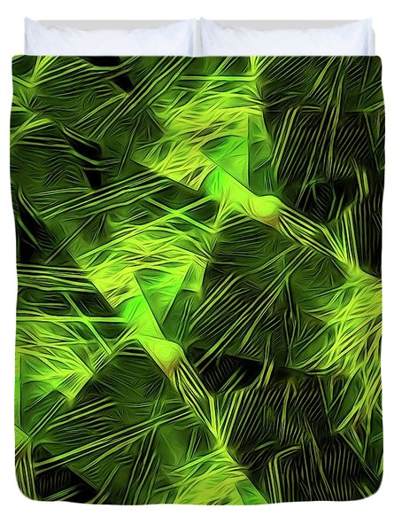 Threshed Green Duvet Cover by Ron Bissett