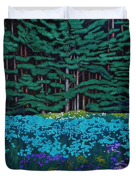 Threshold Of The Woods Duvet Cover