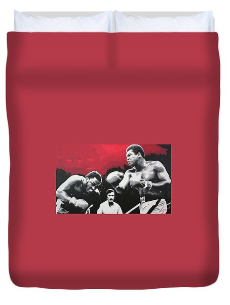 Thrilla In Manila Duvet Cover