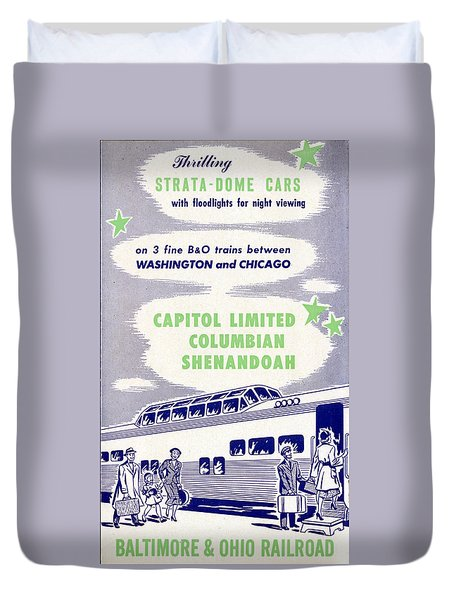 Thrilling Strata-dome Cars Duvet Cover