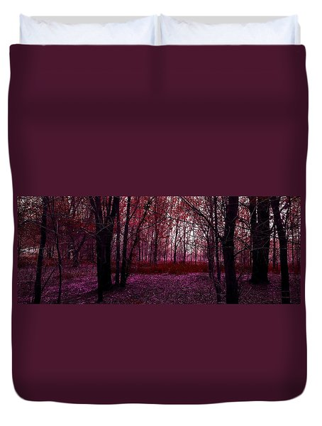 Through A Forest Duvet Cover by Michele Carter