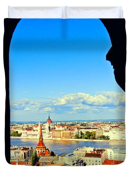 Through An Arch In Budapest Duvet Cover by Madeline Ellis