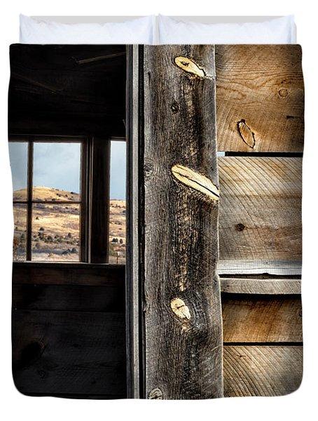 Through Cabin Window Duvet Cover
