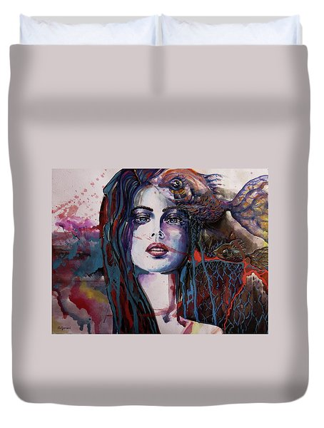 Through My Mind Duvet Cover
