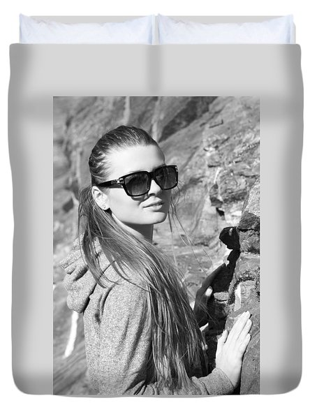 Through Sunglasses Duvet Cover