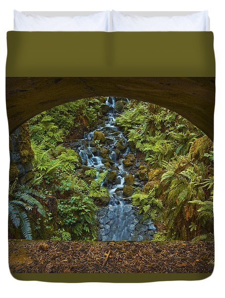 Through The Arch Signed Duvet Cover