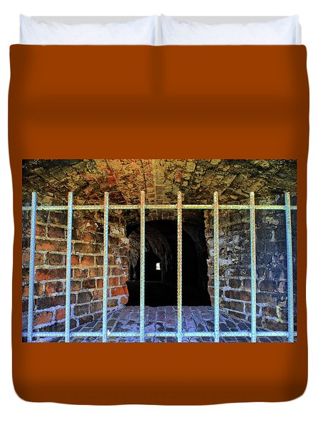 Through The Bars Duvet Cover