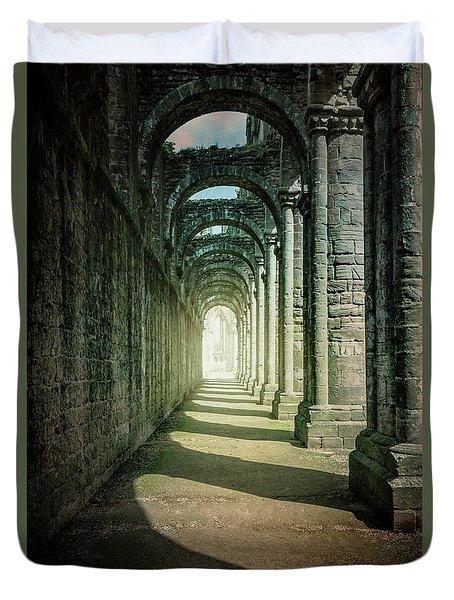 Through The Colonnade Duvet Cover