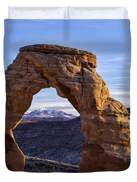 Through The Delicate Arch Duvet Cover