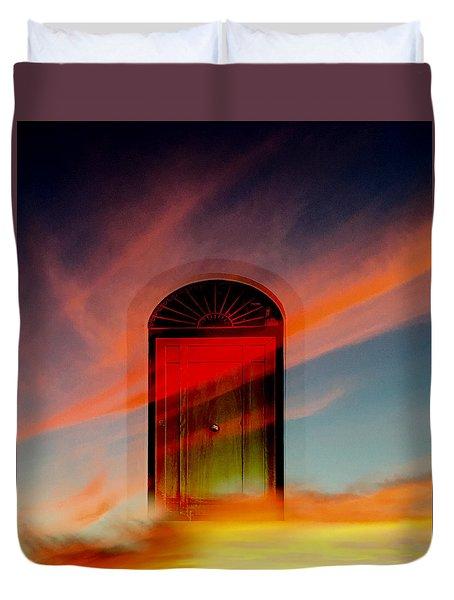 Through The Door Duvet Cover